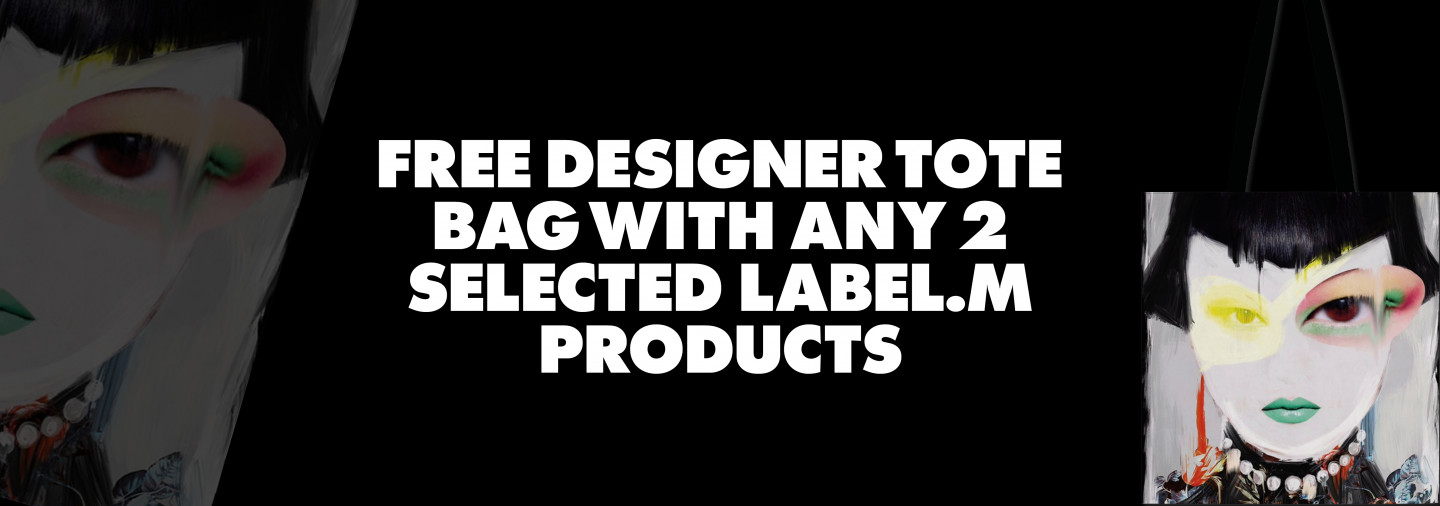 Free designer tote bag with 2 selected label m products